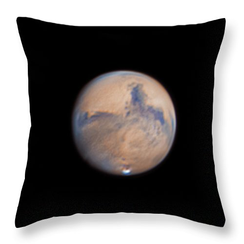 Mars Throw Pillow featuring the photograph Mars from 31st October 2020 by Prabhu Astrophotography
