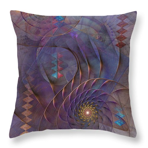 Meandering Acquiescence Throw Pillow featuring the digital art Meandering Acquiescence by John Robert Beck
