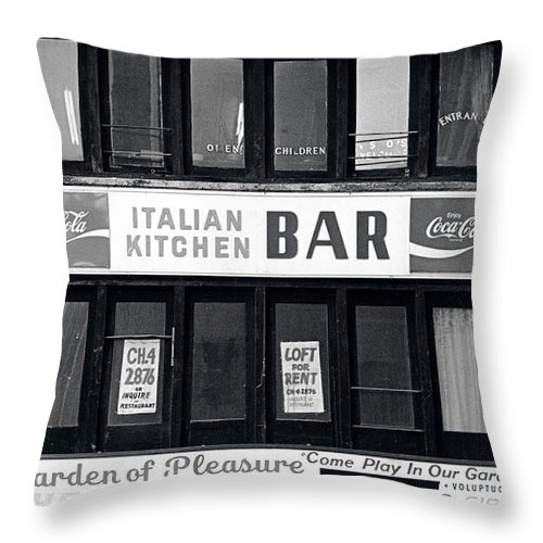 Photo Decor Throw Pillow featuring the photograph Meat Ball Restaurant NYC by Steven Huszar