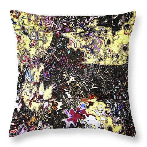 Abstract Throw Pillow featuring the digital art Melted Cheese Drips On Your Favorite Shirt by Jack Entropy