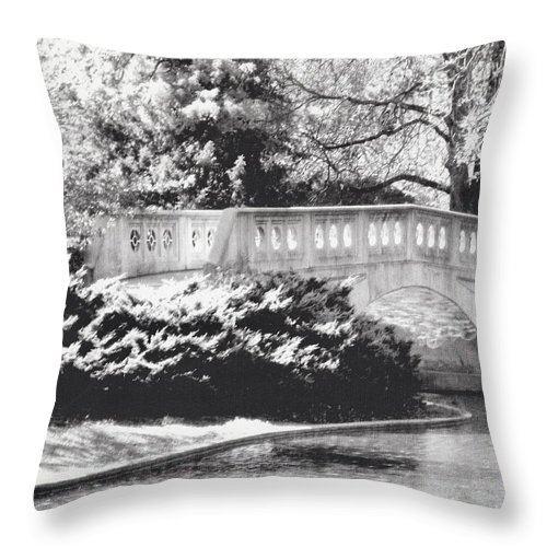 Eden Park Throw Pillow featuring the painting Twin Lakes 2 by Suzzanna Frank