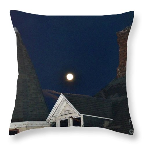 Moon Throw Pillow featuring the photograph Moon over St. Augustine by Debbi Granruth