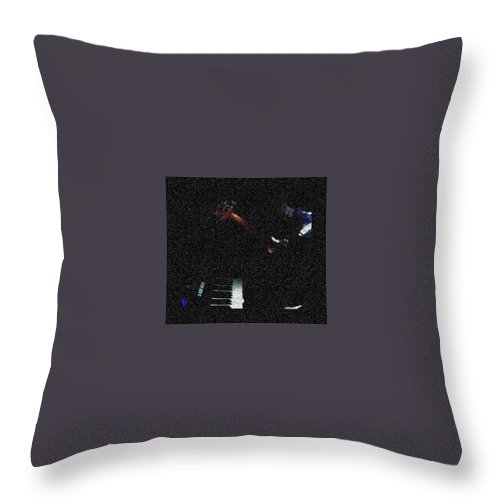 Music Throw Pillow featuring the photograph Music is Peace by Chinasa Nwaorisa
