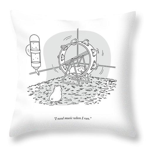 Music When I Run Throw Pillow
