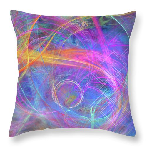 Mystic Beginning Throw Pillow featuring the digital art Mystic Beginning by John Robert Beck