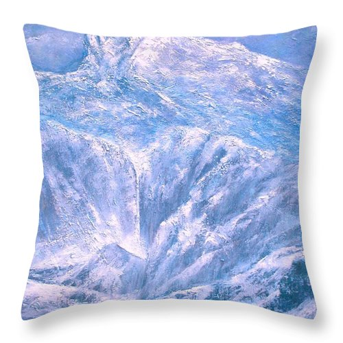 Landscape Throw Pillow featuring the painting Near the Tetons by Jim Gola