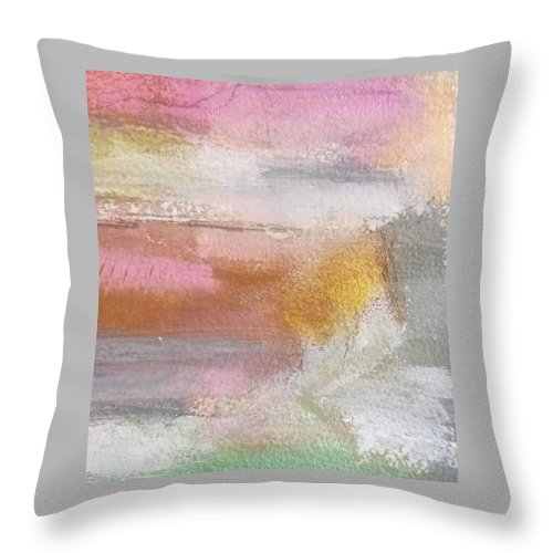 Abstract Throw Pillow featuring the painting Nothing Can Dim the Light by Patricia Byron