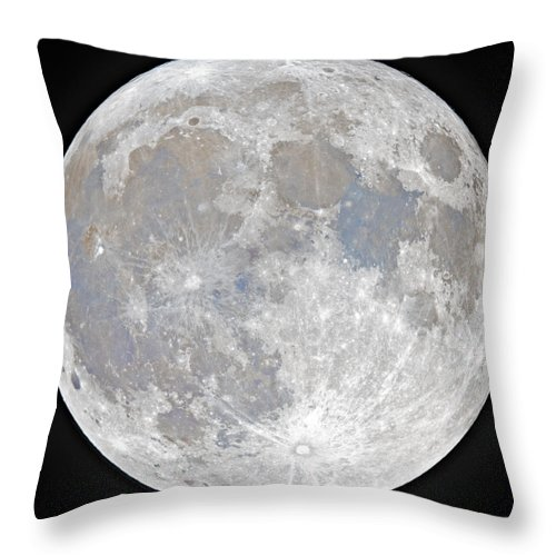 Fullmoon Throw Pillow featuring the photograph October 2020 Halloween Full/Blue Moon by Prabhu Astrophotography