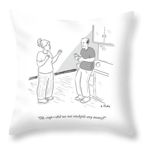 Oh, Crap Throw Pillow