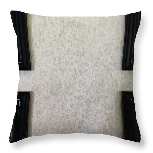 Aged Throw Pillow featuring the photograph Old Picture Frames by Tom Gowanlock