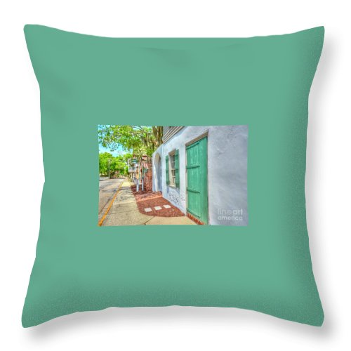Door Throw Pillow featuring the photograph Oldest House by Debbi Granruth