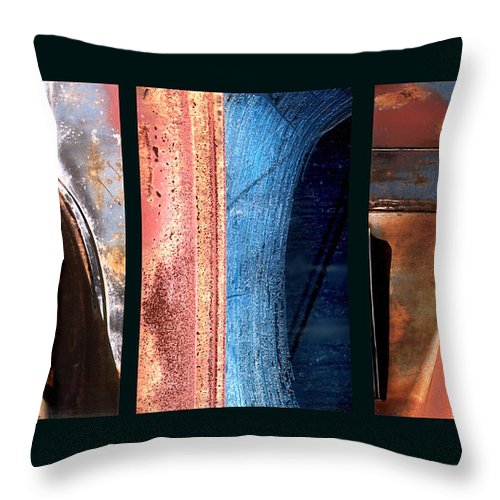 Abstract Throw Pillow featuring the photograph Ole Bill by Steve Karol