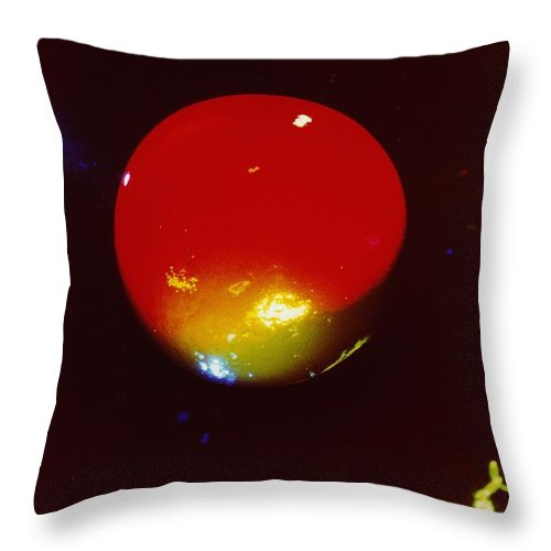Abstract Throw Pillow featuring the photograph P3-3 by David Rivas