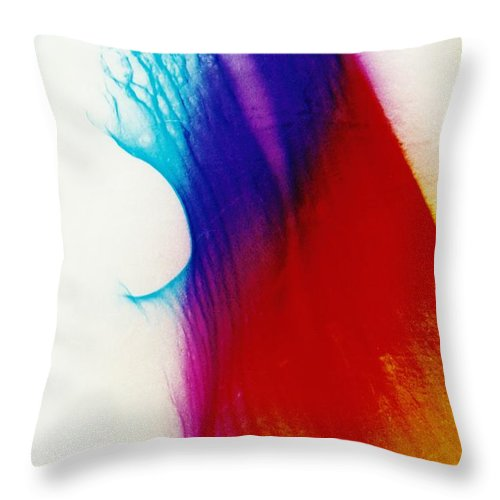 Abstract Throw Pillow featuring the photograph P3-5 by David Rivas