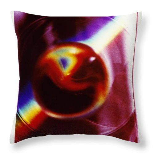 Abstract Throw Pillow featuring the photograph P3-6 by David Rivas