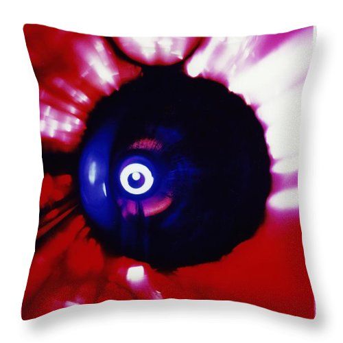 Abstract Throw Pillow featuring the photograph P3-7 by David Rivas