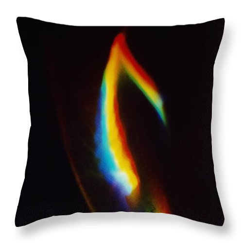 Abstract Throw Pillow featuring the photograph P3-8 by David Rivas