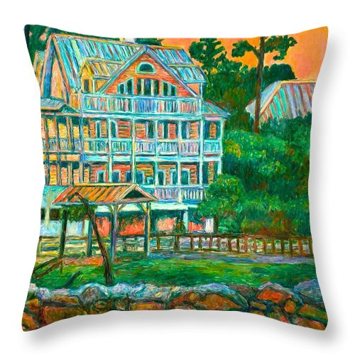 Landscape Throw Pillow featuring the painting Pawleys Island Evening by Kendall Kessler