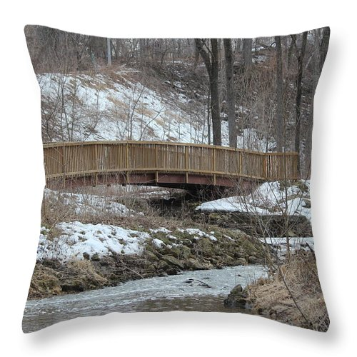 Pheasant Branch Conservancy Throw Pillow featuring the photograph Pheasant Branch by Callen Harty
