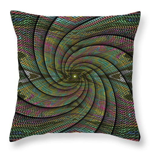 Abstract Throw Pillow featuring the digital art Phoenix Belt by Jack Entropy