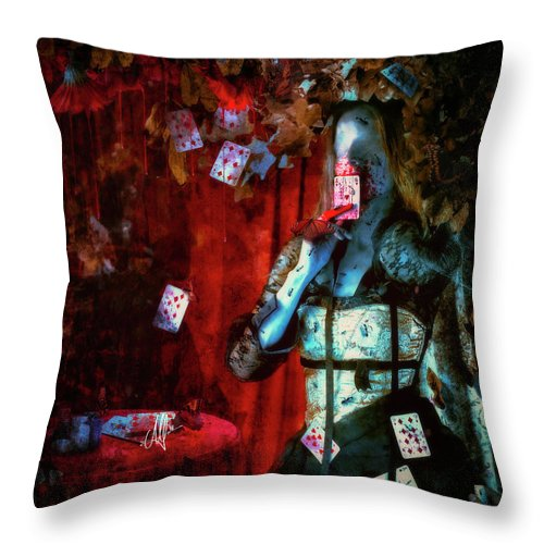 Gothic Throw Pillow featuring the digital art Player by Mario Sanchez Nevado
