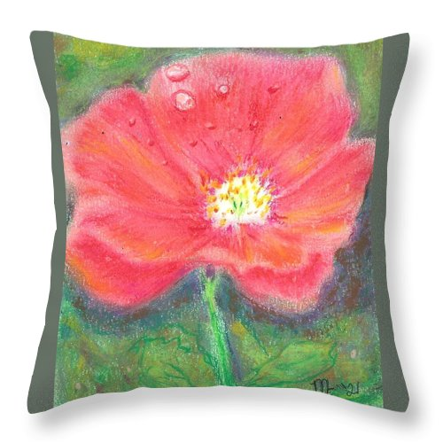 Poppy Throw Pillow featuring the painting Poppy by Monica Resinger