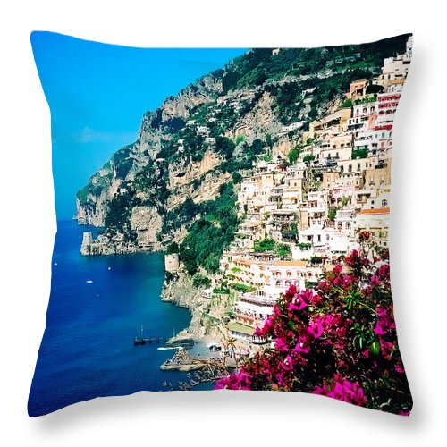 Positano Throw Pillow featuring the photograph Positano by Donna Proctor