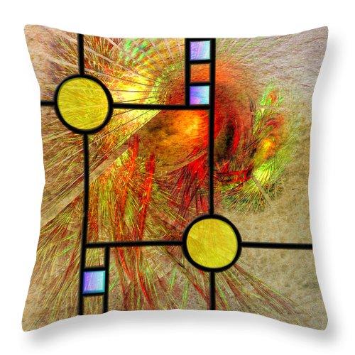 Prairie View Throw Pillow featuring the digital art Prairie View by John Robert Beck