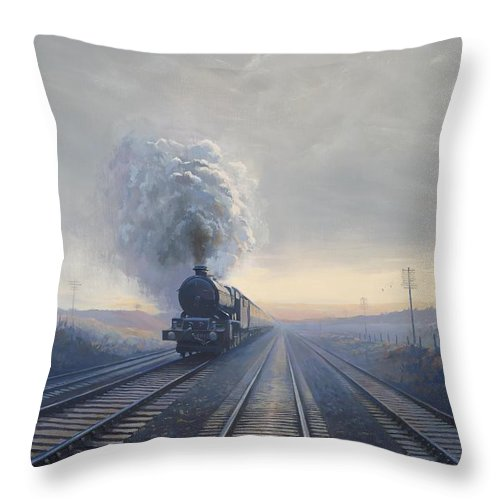 Railway Throw Pillow featuring the painting Purley King by Richard Picton