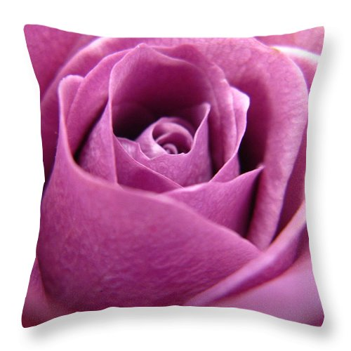 Rhonda Barrett Throw Pillow featuring the photograph Purple Beauty by Rhonda Barrett