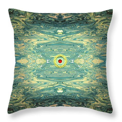 Abstract Throw Pillow featuring the digital art Queen of Hearts by Jack Entropy
