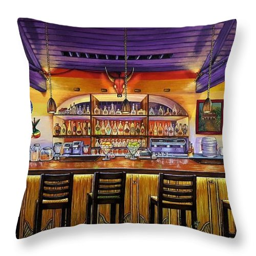 Ready To Open Throw Pillow featuring the painting Ready To Open by Donna L Byers