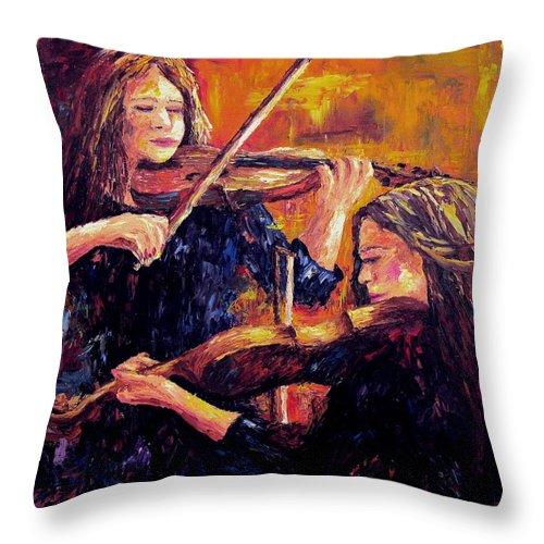Recital Throw Pillow featuring the painting Recital by David G Paul
