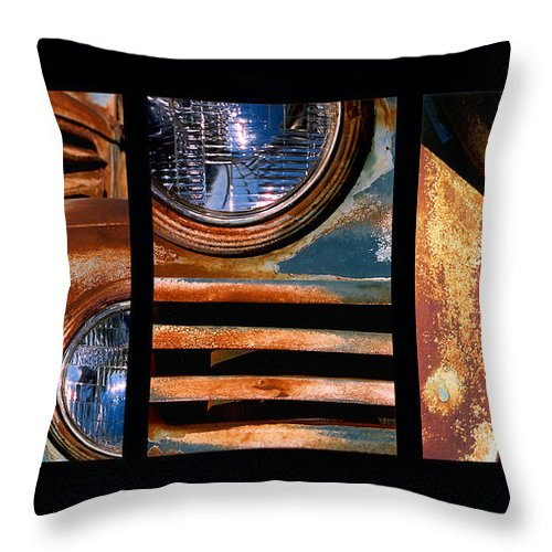Abstract Throw Pillow featuring the photograph Red Head On by Steve Karol