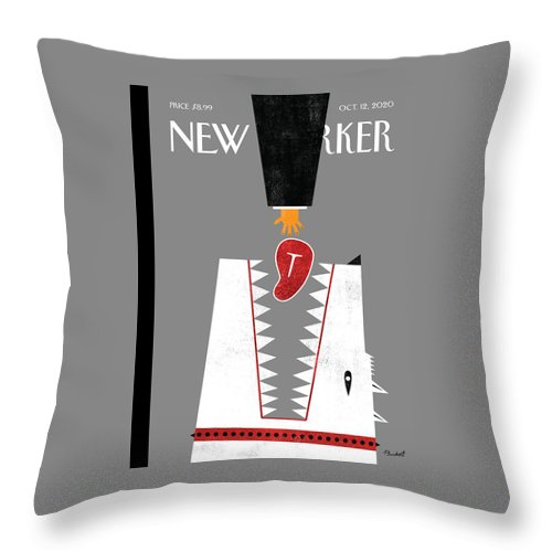 Red Meat Throw Pillow