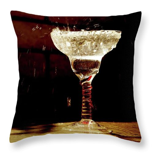 Bubbles Throw Pillow featuring the photograph Red by Michelle Keena
