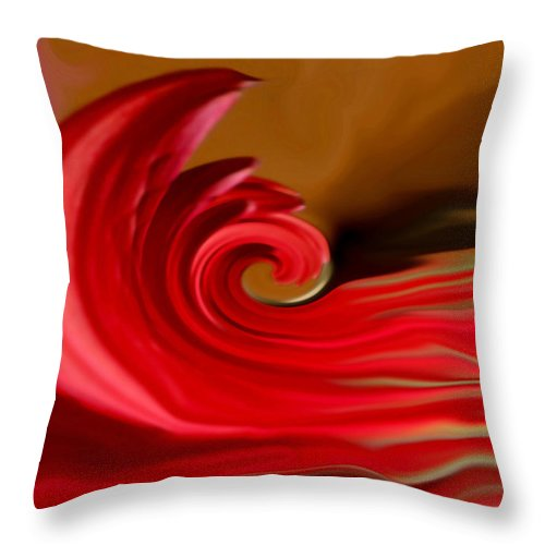 Abstract Art Throw Pillow featuring the photograph Red Sea by Linda Sannuti