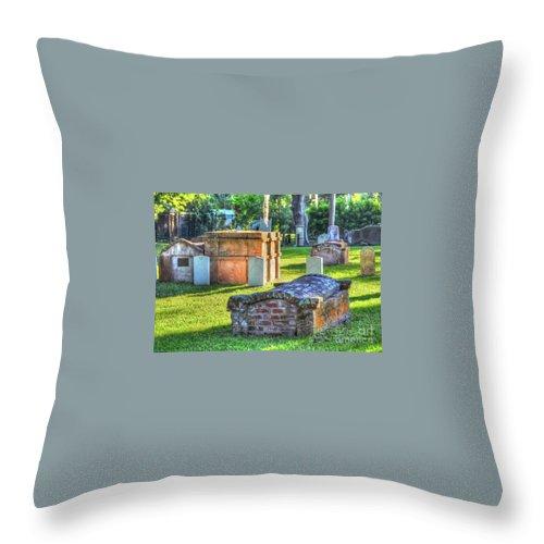 Graveyard Throw Pillow featuring the photograph RIP by Debbi Granruth