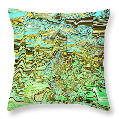 Abstract Throw Pillow featuring the digital art River by Jack Entropy