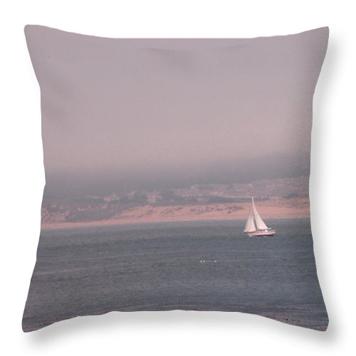 Sailing Solo Throw Pillow featuring the photograph Sailing Solo by Pharris Art