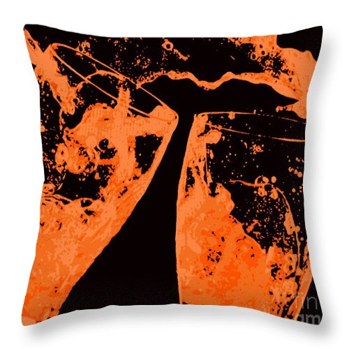Splash Throw Pillow featuring the painting Saturday Suds by Jack Bunds