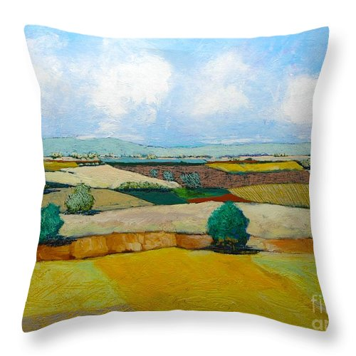 Landscape Throw Pillow featuring the painting Sears Point by Allan P Friedlander