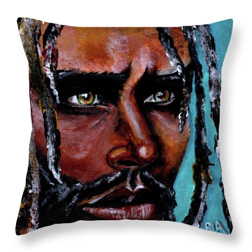 Eyes Throw Pillow featuring the painting Selfless Life by Artist RiA