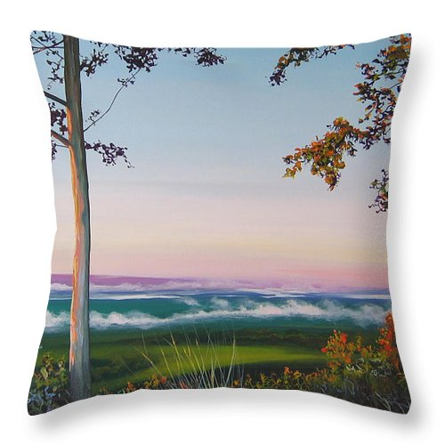 Landscape Throw Pillow featuring the painting September Sky by Hunter Jay