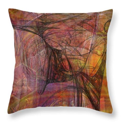 Shadow Dragon Throw Pillow featuring the digital art Shadow Dragon by John Robert Beck