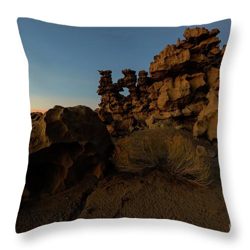 Fantasy Canyon Throw Pillow featuring the photograph Shaped by the Elements by Mike Dawson