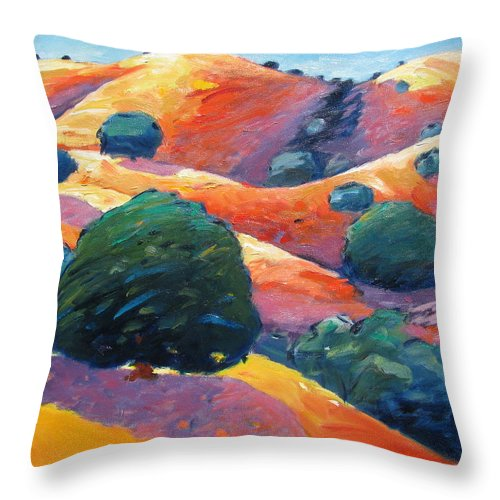 California Throw Pillow featuring the painting Shimmering Light by Gary Coleman