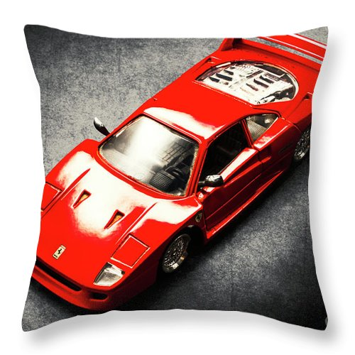 Auto Throw Pillow featuring the photograph Shiny Classic by Jorgo Photography - Wall Art Gallery