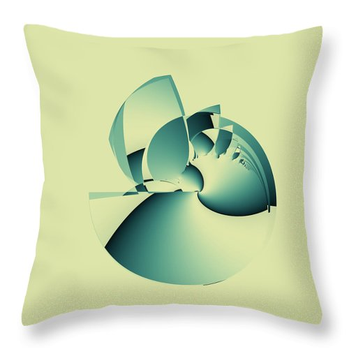Fractal Throw Pillow featuring the digital art Shouldn't Be by Brian Haythorn