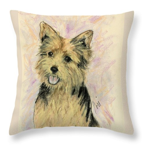 Dog Throw Pillow featuring the drawing Soulmate by Cori Solomon